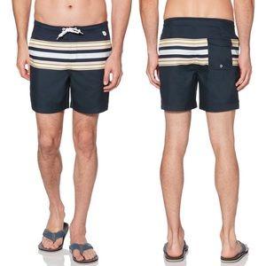 Original Penguin | Retro Stripe Swim Shorts